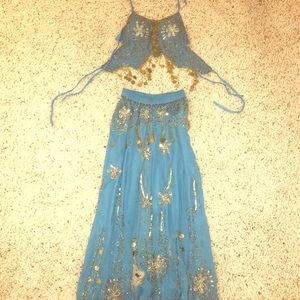 Authentic belly dance outfit tie top & hook bottom